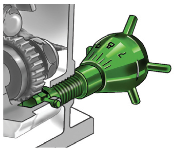 Micrometer screw adjusts flow rate