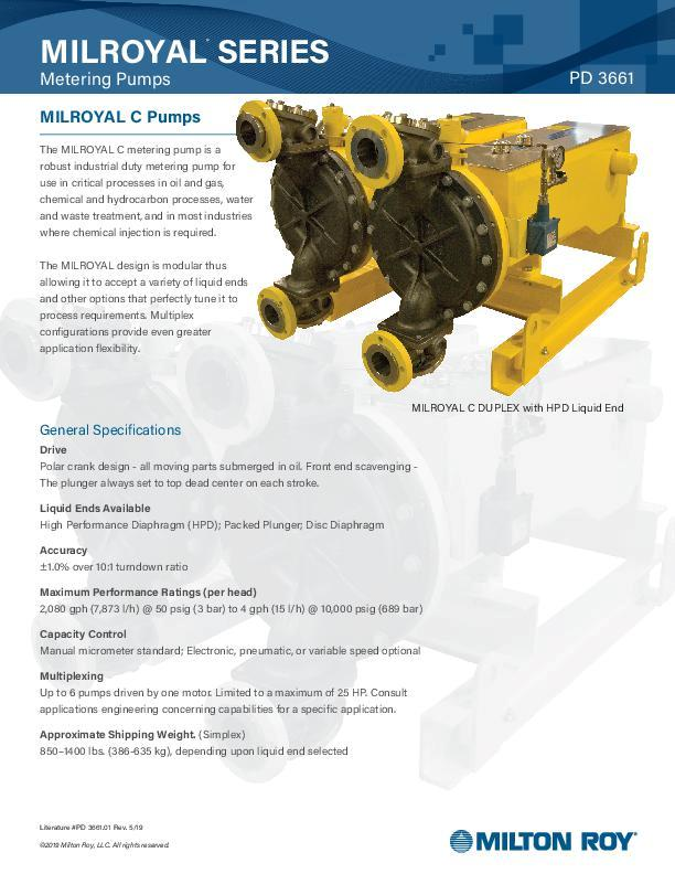 Milroyal C Pumps Datasheet